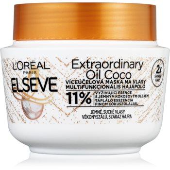 L'Oréal Paris Elseve Extraordinary Oil Coconut mască nutritivă cu ulei de cocos, pentru păr normal spre uscat notino.ro