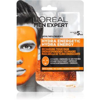 L'Oréal Paris Men Expert Hydra Energetic mască textilă hidratantă pentru barbati notino.ro