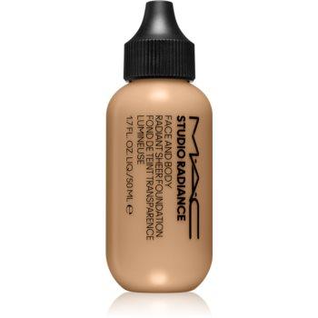 MAC Cosmetics Studio Radiance Face and Body Radiant Sheer Foundation machiaj cu acoperire ușoară pentru față și corp imagine 2021 notino.ro