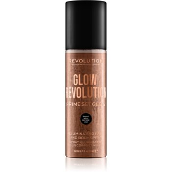 Makeup Revolution Glow Revolution spray iluminator pentru față și corp imagine 2021 notino.ro
