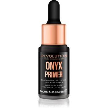 Makeup Revolution Onyx Primer bază de machiaj matifiantă, sub fondul de ten notino.ro