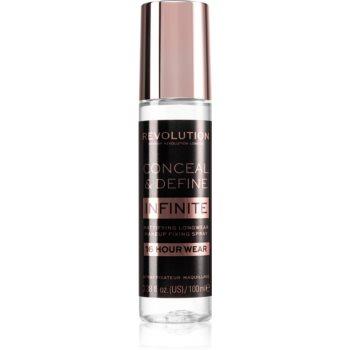 Makeup Revolution Conceal & Define Infinite fixator make-up cu efect matifiant imagine 2021 notino.ro