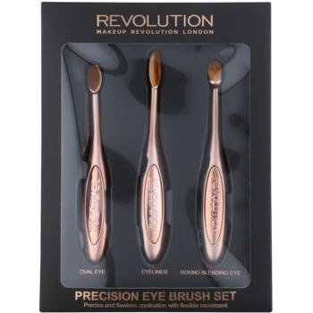 Makeup Revolution Pro Precision Brush set perii machiaj pentru ochi imagine 2021 notino.ro