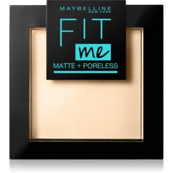 Maybelline Fit Me! Matte+Poreless pudra matuire imagine 2021 notino.ro