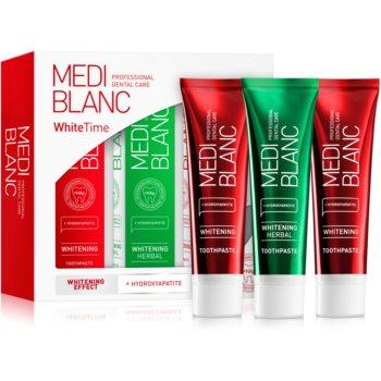 MEDIBLANC Dental Care White Time Set set pentru îngrijirea dentară (pentru dinti albi si stralucitori) imagine notino.ro