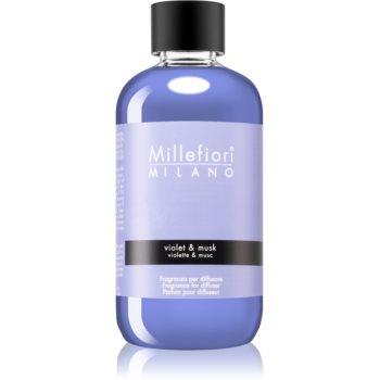 Millefiori Natural Violet & Musk reumplere în aroma difuzoarelor