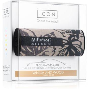 Millefiori Icon Vanilla & Wood parfum pentru masina Textile Geometric