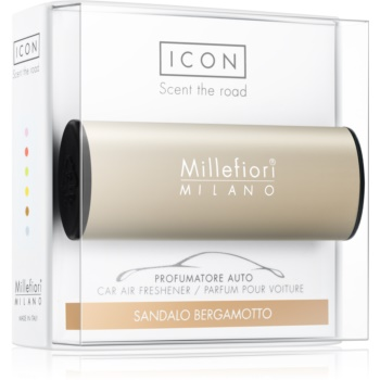 Millefiori Icon Sandalo Bergamotto parfum pentru masina Metallo Matt Bronze