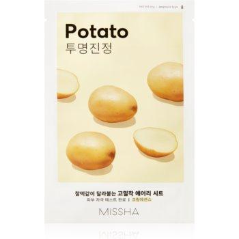Missha Airy Fit Potato mască textilă pentru netezire pentru o piele mai luminoasa notino.ro