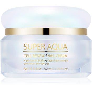 Missha Super Aqua Cell Renew Snail cremă de zi pentru contur și fermitate extract de melc notino poza