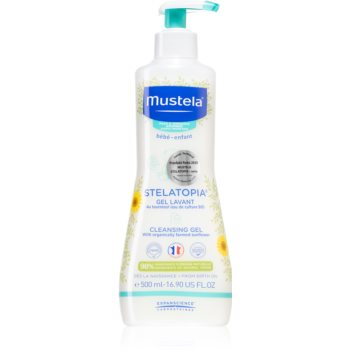 Mustela Bébé Stelatopia gel pentru spălarea și curățarea copiilor și a bebelușilor pentru piele uscata spre atopica imagine 2021 notino.ro