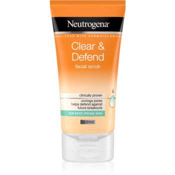 Neutrogena Clear & Defend exfoliant facial pentru netezirea pielii imagine 2021 notino.ro