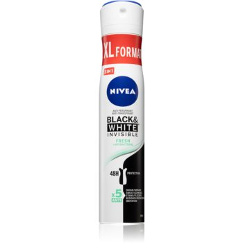 Nivea Black & White Invisible Fresh + Antibacterial spray anti-perspirant 5 in 1 imagine 2021 notino.ro
