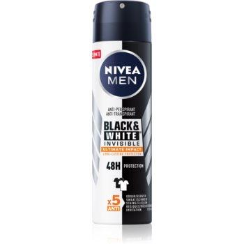 Nivea Men Invisible Black & White spray anti-perspirant pentru barbati imagine 2021 notino.ro
