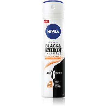 Nivea Invisible Black & White Ultimate Impact spray anti-perspirant 48 de ore imagine 2021 notino.ro