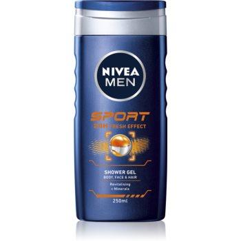 Nivea Men Sport gel de duș pe fata , corp si par imagine 2021 notino.ro