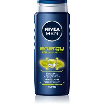 Nivea Men Energy gel de duș pe fata , corp si par imagine 2021 notino.ro
