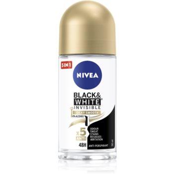 Nivea Invisible Black & White Silky Smooth deodorant roll-on antiperspirant fară alcool imagine 2021 notino.ro