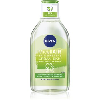 Nivea Urban Skin Detox apă micelară 3 în 1 cu extracte de ceai verde imagine 2021 notino.ro