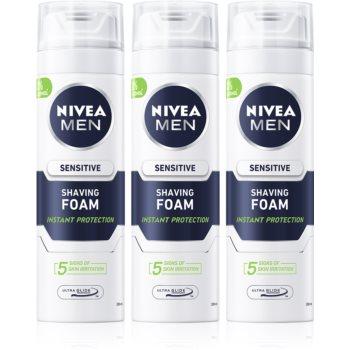 Nivea Men Sensitive spumă pentru bărbierit imagine 2021 notino.ro
