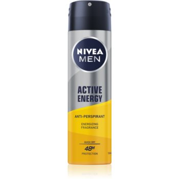 Nivea Men Active Energy spray anti-perspirant 48 de ore imagine 2021 notino.ro