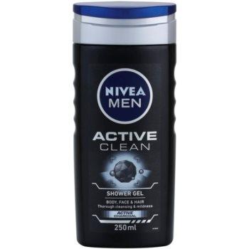 Nivea Men Active Clean gel de dus pentru față, corp și păr pentru barbati imagine 2021 notino.ro