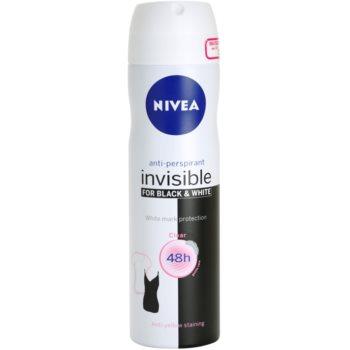 Nivea Invisible Black & White Clear antiperspirant Spray imagine 2021 notino.ro