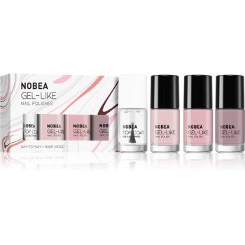NOBEA Day-to-Day set de lacuri de unghii Nude mood image0