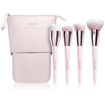 Notino Glamour Collection Flawless Face Brush Set set de pensule cu geantă imagine 2021 notino.ro