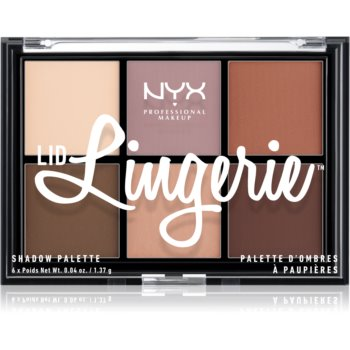 NYX Professional Makeup Lid Lingerie paletă cu 6 farduri în degrade imagine 2021 notino.ro