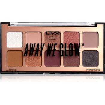 NYX Professional Makeup Away We Glow paletă cu farduri de ochi imagine 2021 notino.ro