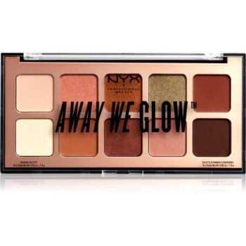 NYX Professional Makeup Away We Glow paletă cu farduri de ochi notino.ro