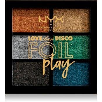 NYX Professional Makeup Love Lust Disco Foil Play paletă cu farduri de ochi notino.ro