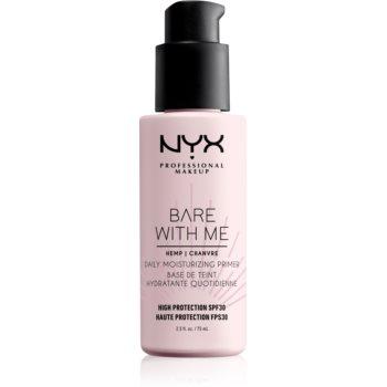 NYX Professional Makeup Bare With Me Hemp SPF 30 Daily Moisturizing Primer baza hidratantă de machiaj SPF 30 notino.ro