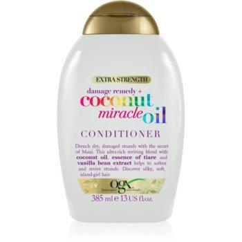 OGX Coconut Miracle Oil balsam pentru întărirea părului cu ulei de cocos notino.ro