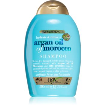 OGX Argan Oil Of Morocco Extra Strenght sampon reparator pentru par fragil foarte deteriorat notino.ro