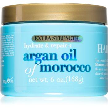OGX Argan Oil Of Morocco Extra Strenght masca intensă de întinerire pentru par deteriorat notino.ro