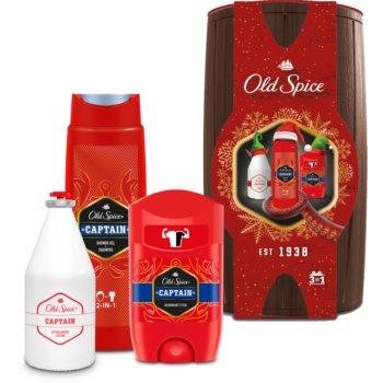 Old Spice Captain Wooden Barrel set cadou pentru bărbați imagine 2021 notino.ro