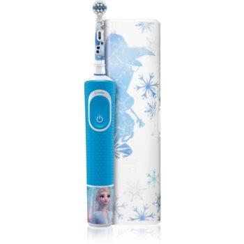 Oral B Vitality Kids 3+ Frozen periuta de dinti electrica (cu sac) pentru copii imagine 2021 notino.ro