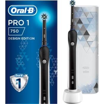 Oral B PRO 750 Cross Action Black Edition periuta de dinti electrica cu sac imagine 2021 notino.ro