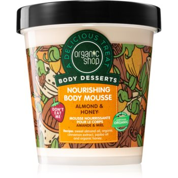 Organic Shop Body Desserts Almond & Honey spuma de corp nutritie si hidratare imagine 2021 notino.ro