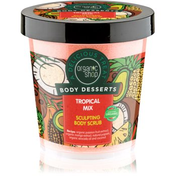 Organic Shop Body Desserts Tropical Mix exfoliant corporal pentru slăbire imagine 2021 notino.ro