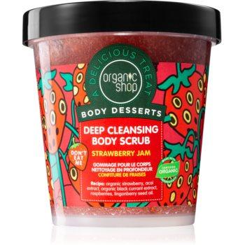 Organic Shop Body Desserts Strawberry Jam peeling de curățare profundă pentru corp imagine 2021 notino.ro