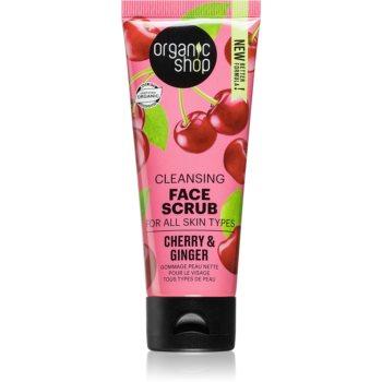 Organic Shop Organic Ginger & Cherry demachiant cu efect de peenling imagine 2021 notino.ro