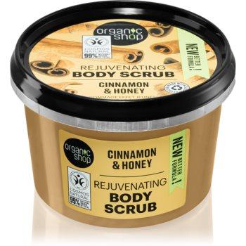Organic Shop Organic Cinnamon & Honey exfoliant delicat pentru corp imagine 2021 notino.ro
