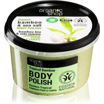 Organic Shop Organic Bamboo & Sea Salt exfoliant energizant pentru corp imagine 2021 notino.ro