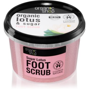 Organic Shop Organic Lotus & Sugar exfoliant din zahar pentru picioare imagine 2021 notino.ro