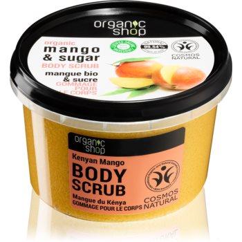 Organic Shop Body Scrub Mango & Sugar exfoliant corporal pentru piele mătăsoasă și netedă imagine 2021 notino.ro