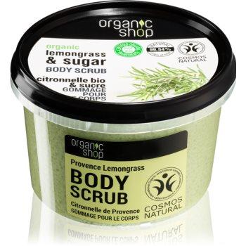 Organic Shop Organic Lemongrass & Sugar crema delicata pentru exfoliere pentru corp imagine 2021 notino.ro