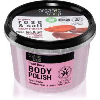 Organic Shop Organic Rose & Salt peeling corporal cu saruri imagine 2021 notino.ro